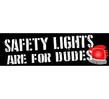 Ghostbusters: Safety Lights are for Dudes Photographic Print
