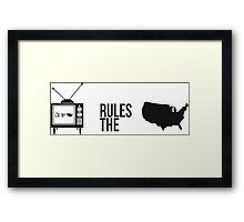 Television Rules The Nation (USA) (Light Background) Framed Print