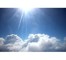 Clear Blue Cloud Sky Photographic Print