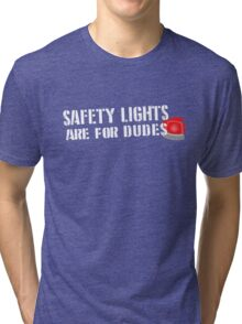 Ghostbusters: Safety Lights are for Dudes Tri-blend T-Shirt