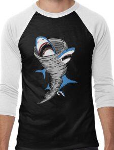 Shark Tornado Men's Baseball ¾ T-Shirt
