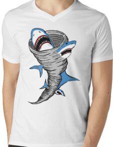 Shark Tornado Mens V-Neck T-Shirt