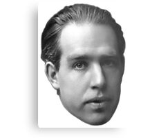 Niels Bohr floating head - noir Metal Print