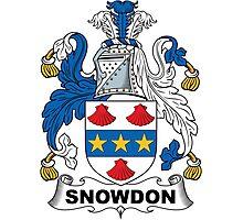 Snowdon Coat of Arms (English) Photographic Print