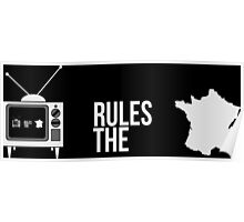 Television Rules The Nation (France) (Dark Background) Poster