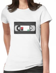 VHS classic (black) Womens Fitted T-Shirt