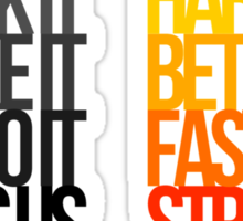 Harder Better Faster Stronger (Light Background) Sticker