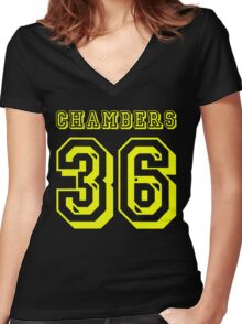 Shaolin Chambers Women's Fitted V-Neck T-Shirt
