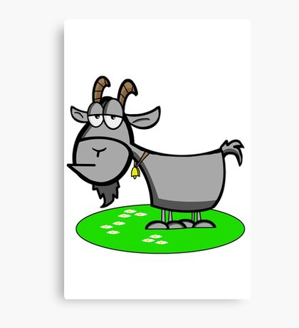 Funny Cartoon Goat  Canvas Print