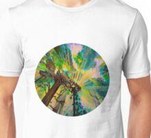 Rays through redwood forest Unisex T-Shirt