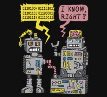 Robot Talk One Piece - Long Sleeve
