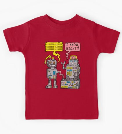 Robot Talk Kids Tee