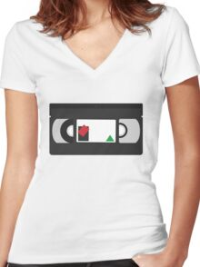 Single VHS Classic Women's Fitted V-Neck T-Shirt