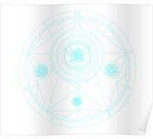 The Alchemist's Snare -Cyan/White Poster