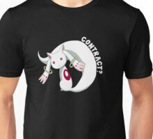 Kyubey- Contract? Unisex T-Shirt