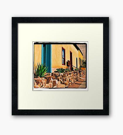 Old Town Tucson Framed Print