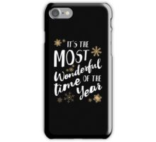 It's the Most Wonderful Time of the Year - Black iPhone Case/Skin