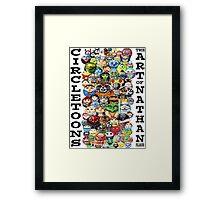 CircleToon Collage Framed Print