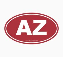 Arizona AZ Euro Oval RED by USAswagg