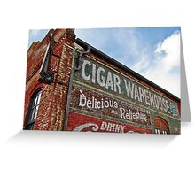 Cigar Warehouse Greeting Card