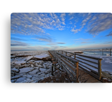 Across The Ice & Toward The Horizon - Yarmouthport, Mass Canvas Print