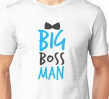 BIG Boss man with a Black Bow Tie Unisex T-Shirt