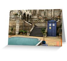 Courtyard Tardis Greeting Card