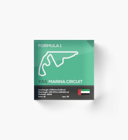 Yas marina circuit - Abu Dhabi Acrylic Block