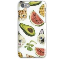 cats and fruits iPhone Case/Skin