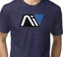 Mass Effect Andromeda Blue Big Logo Tri-blend T-Shirt