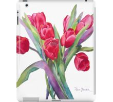 Springtime Red Tulips! iPad Case/Skin