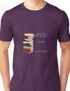 Libraries were full of Ideas Unisex T-Shirt