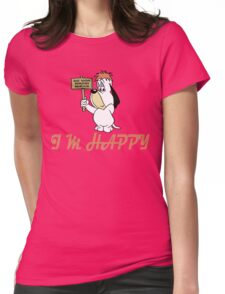 Droopy Dog - Cartoon - i'm Happy Womens Fitted T-Shirt