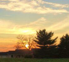 sweet midwestern sunset Sticker