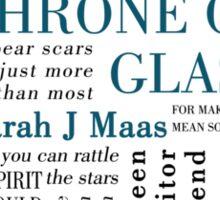 Throne of Glass - Typography Sticker