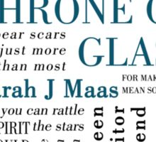 Throne of Glass - Typography Sticker
