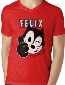 Felix The Cat - Cartoon - animasi Mens V-Neck T-Shirt