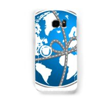 A world as a gift for cycling Samsung Galaxy Case/Skin