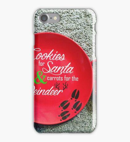 Cookies for Santa plate! iPhone Case/Skin