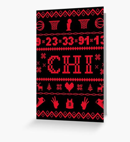 Chicago Sweater Greeting Card