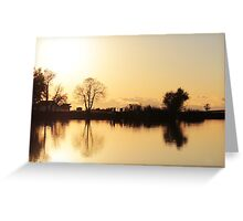 Horseshoe Lake, Chico Greeting Card