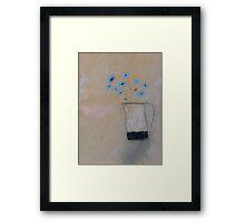 corn flowers Framed Print