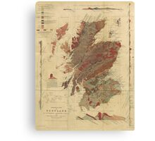 Vintage Geological Map of Scotland Canvas Print