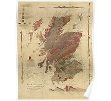 Vintage Geological Map of Scotland Poster