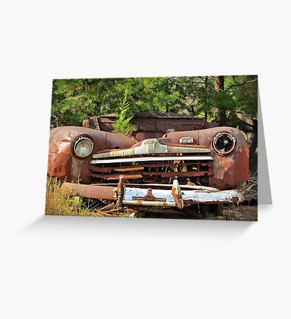 Rust Adds Character II Greeting Card