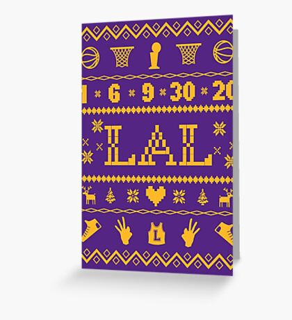 Los Angeles Sweater Greeting Card