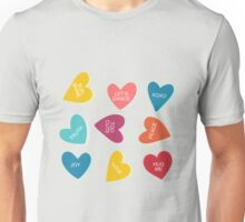 Valentines Day Candy Men, Women, and Youth Unisex T-Shirt