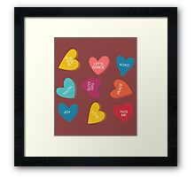 Valentines Day Candy Men, Women, and Youth Framed Print