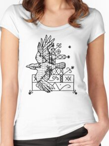 Corvus Veve (black and white) Women's Fitted Scoop T-Shirt