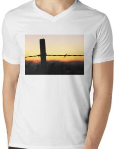 Old 32 Barbed Wire Fence Mens V-Neck T-Shirt
